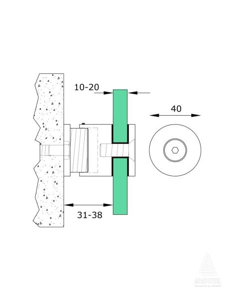 نقشه فنی پوینت فیکس کد F21